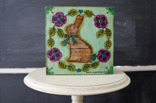 AE Tonic Pansy and Bunny 6x6